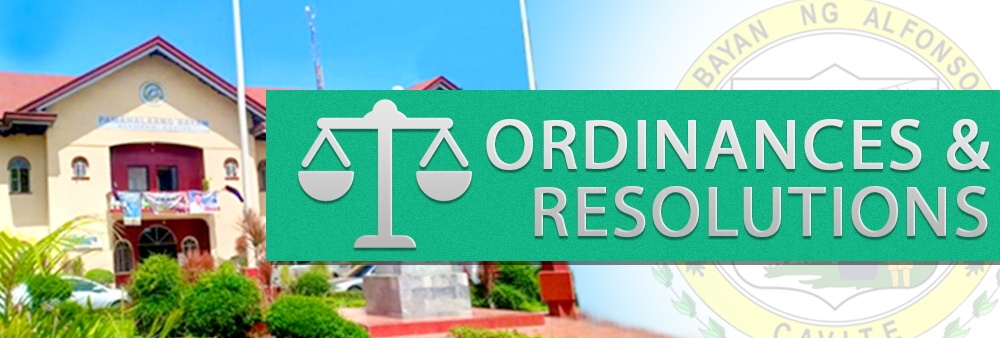 ordinances and resolutions